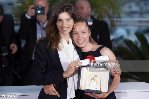 Emmanuelle BERCOT et MAÏWENN au Photocall du Palmarès du 68e Festival de Cannes au Palais des Festivals le 24 mai 2015, Cannes, France. Film - ?MON...