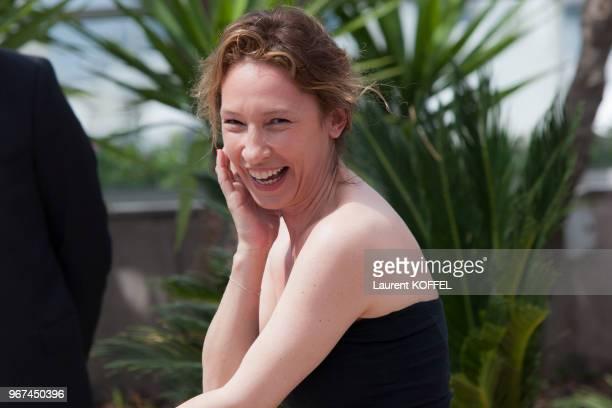 Emmanuelle Bercot lors du photocall du film ?La tête haute ' pendant le 68eme Festival du Film Annuel au Palais des Festivals le 13 mai 2015, Cannes,...