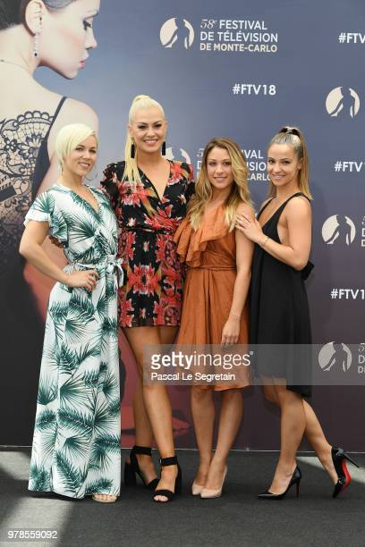 Emmanuelle BerneKatrina PatchettJade Geropp and Denitsa Ikonomova of the show Dance Avec les Stars attend a photocall during the 58th Monte Carlo TV...