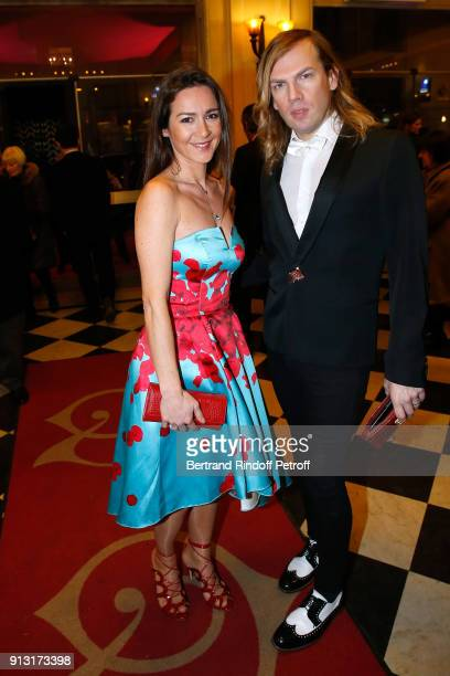 Emmanuelle Boidron and Christophe Guillarme attend the 'Heart Gala' Evening to benefit the 'Mecenat Chirurgie Cardiaque' at Salle Gaveau on February...
