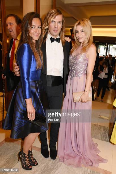 Emmanuelle Boidron Christophe Guillarme and Lola Marois Bigard attend Amnesty International 'Musique Contre L'Oubli' Gala Ceremony at Theatre des...