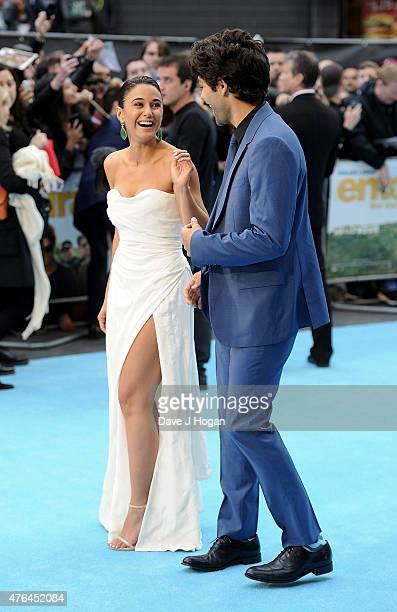 Emmanuelle Chriqui and Adrian Grenier attend the European Premiere of Entourage at Vue West End on June 9 2015 in London England
