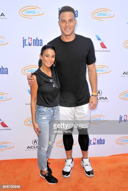 Emmanuelle Chriqui and Blake Griffin at Lupus LA's MBJAM 17 on September 16 2017 in Marina del Rey California