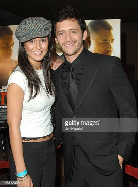 Emmanuelle Chriqui and Clifton Collins Jr during Dirty Los Angeles Premiere Arrivals at Writers Guild Of America in Beverly Hills California United...
