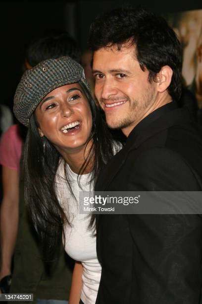 Emmanuelle Chriqui and Clifton Collins Jr during Los Angeles Premiere of Dirty at Writer's Guild of America in Beverly Hills California United States