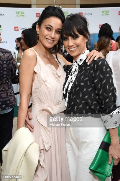 Emmanuelle Chriqui and Constance Zimmer attend The 29th Annual Environmental Media Awards at Montage Beverly Hills on May 30 2019 in Beverly Hills...