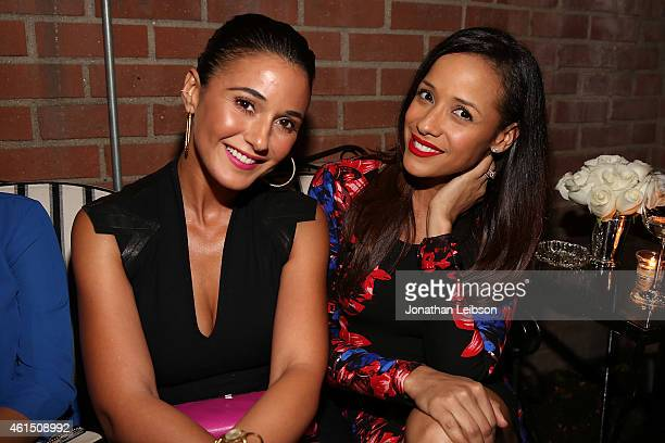 Emmanuelle Chriqui and Dania Ramirez attend VIOLET GREY Bobbi Brown Celebrate The GIRL RISING Movement on January 13 2015 in Los Angeles California
