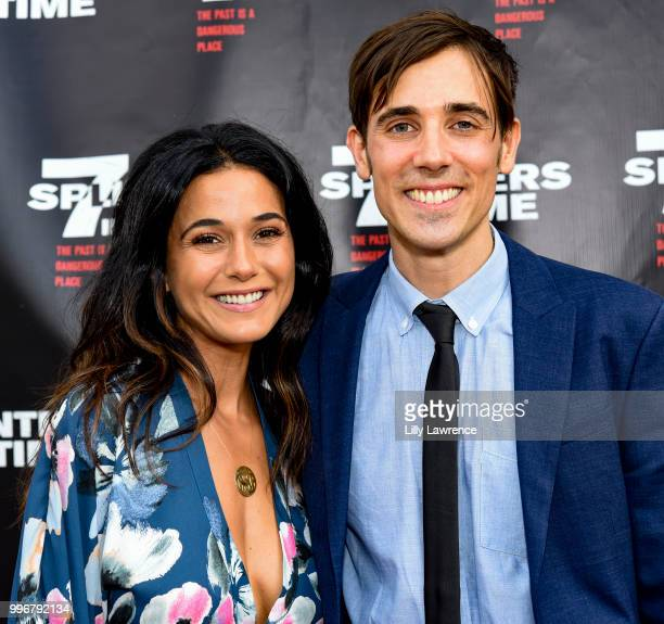 Emmanuelle Chriqui and Gabriel JudetWeinshel arrive at the '7 Splinters In Time' Premiere at Laemmle Music Hall on July 11 2018 in Beverly Hills...