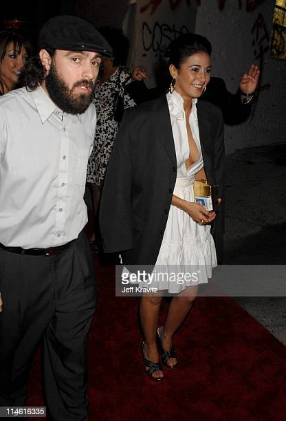 Emmanuelle Chriqui and guest during 'Entourage' Third Season Premiere in Los Angeles After Party in Los Angeles California United States