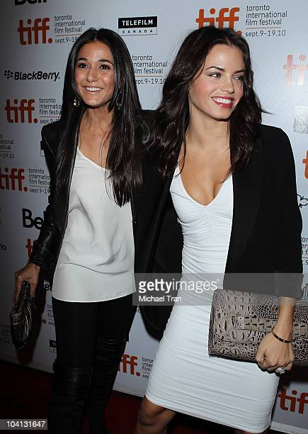 Emmanuelle Chriqui and Jenna Dewan arrive at the Black Swan premiere during the 2010 Toronto International Film Festival held at Roy Thompson Hall on...