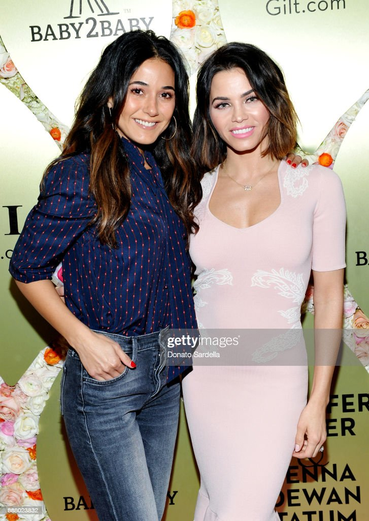 Emmanuelle Chriqui and Jenna Dewan Tatum at Gilt.com, Jennifer Meyer & Jenna Dewan Tatum's Exclusive Jewelry Collection Launch Benefitting Baby2Baby at Sunset Tower Hotel on December 7, 2017 in West Hollywood, California.