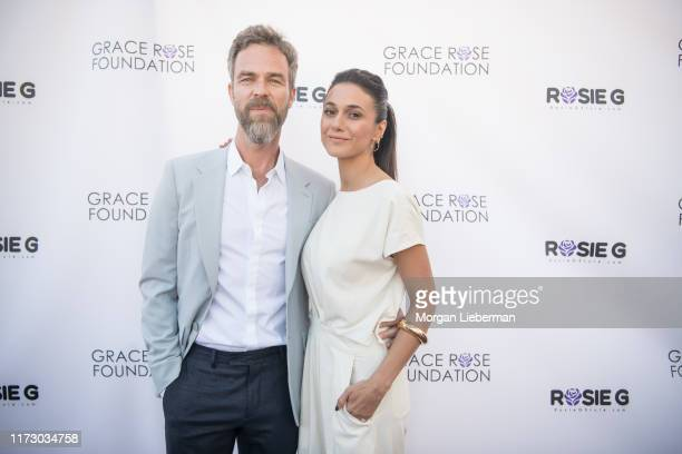 Emmanuelle Chriqui and JR Bourne arrive at the 16th Annual Grace Rose Foundation Fashion Show Fundraiser at SLS Hotel on September 07, 2019 in...