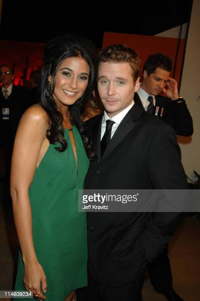 Emmanuelle Chriqui and Kevin Connolly during HBO 2007 Golden Globe After Party Red Carpet at Beverly Hilton in Los Angeles California United States
