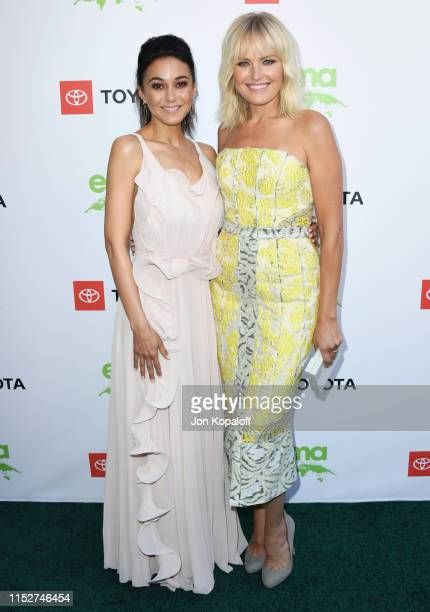 Emmanuelle Chriqui and Malin Akerman attend the 29th Annual Environmental Media Awards at Montage Beverly Hills on May 30, 2019 in Beverly Hills,...