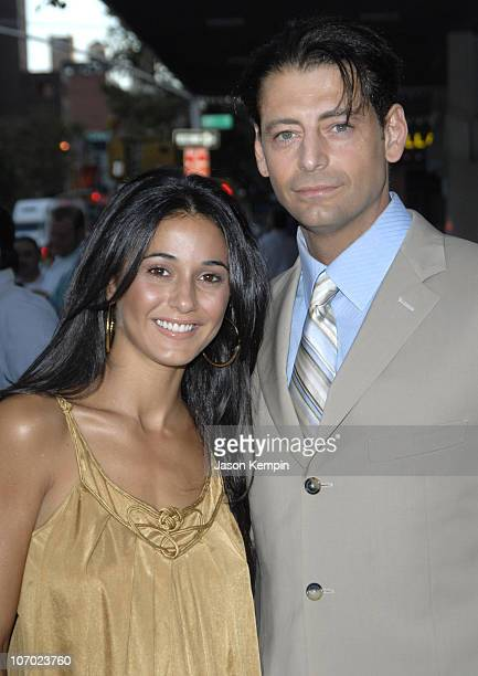 Emmanuelle Chriqui and Robert Capelli Jr during Waltzing Anna New York Premiere August 8 2006 at AMC Village Loews 7 in New York City New York United...