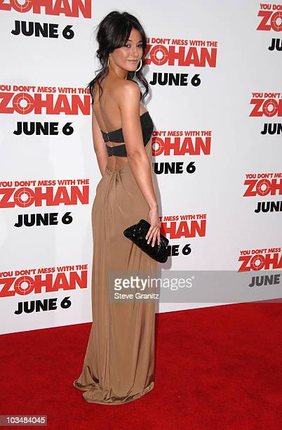 """Emmanuelle Chriqui arrives at Sony Pictures Premiere of """"You Don't Mess With the Zohan"""" on May 28, 2008 at the Grauman's Chinese Theatre in..."""