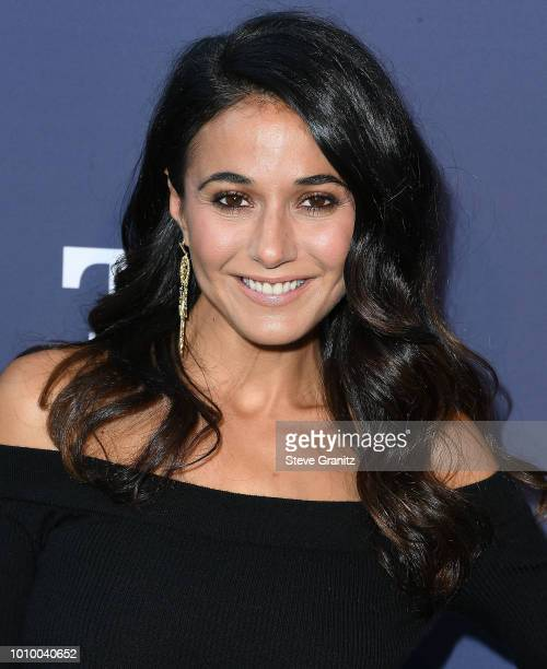 Emmanuelle Chriqui arrives at the FOX Summer TCA 2018 AllStar Party at Soho House on August 2 2018 in West Hollywood California