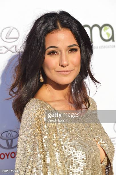 Emmanuelle Chriqui at the Environmental Media Association's 27th Annual EMA Awards at Barkar Hangar on September 23 2017 in Santa Monica California