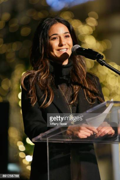 Emmanuelle Chriqui at the Village Synagogue and Emmanuelle Chriqui Host Menorah Lighting Ceremony at The Grove on December 12 2017 in Los Angeles...