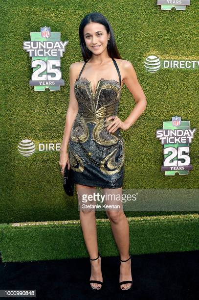 Emmanuelle Chriqui attends DIRECTV CELEBRATES 25th Season of NFL SUNDAY TICKET at Nomad Hotel Los Angeles on July 17 2018 in Los Angeles California