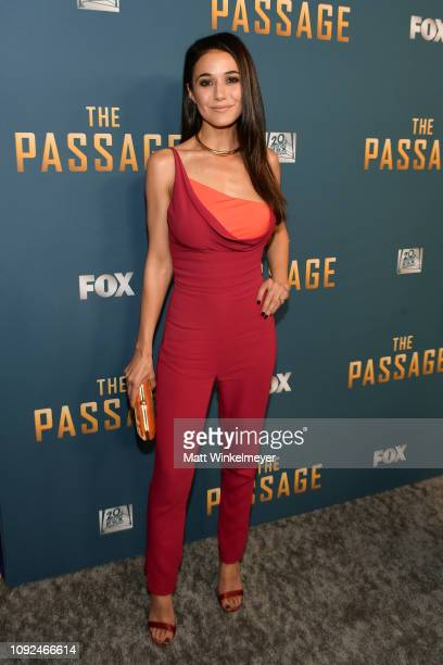 Emmanuelle Chriqui attends Fox's The Passage premiere party at The Broad Stage on January 10 2019 in Santa Monica California