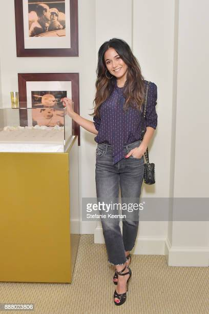Emmanuelle Chriqui attends Giltcom Jennifer Meyer Jenna Dewan Tatum Launch Exclusive Jewelry Collection Benefitting Baby2Baby at Sunset Tower Hotel...