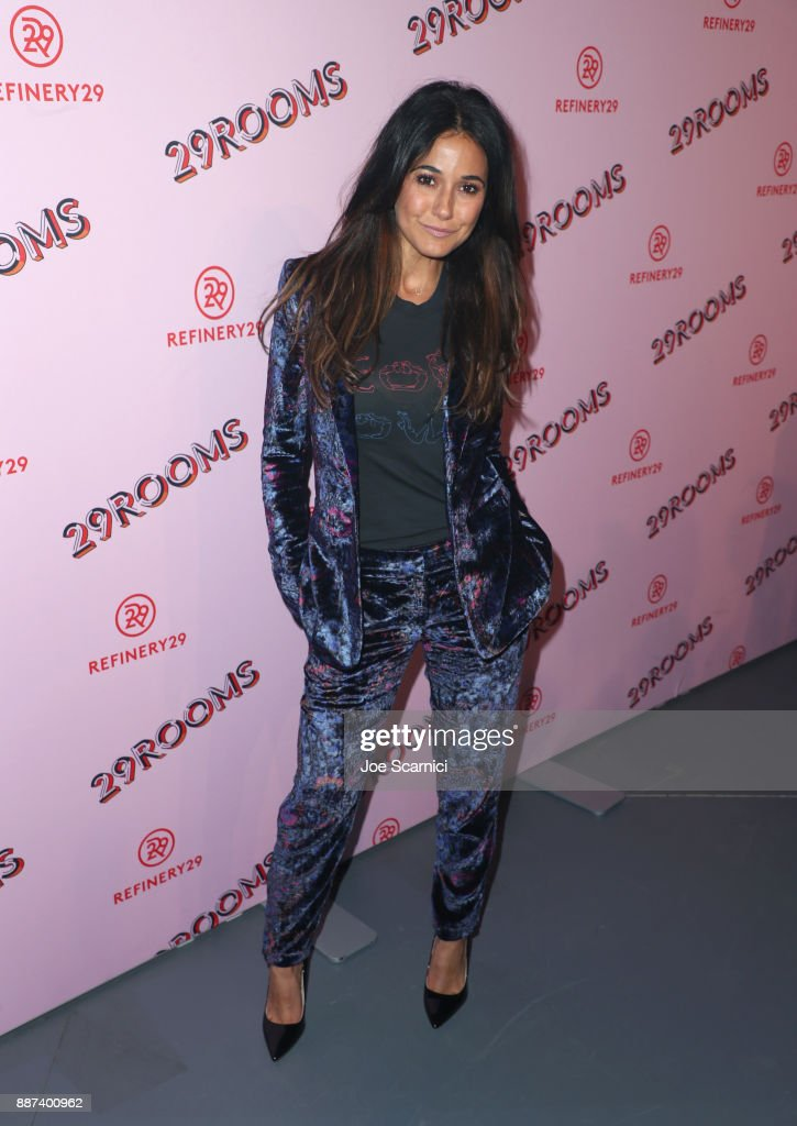 Emmanuelle Chriqui attends Refinery29 29Rooms Los Angeles: Turn It Into Art Opening Night Party at ROW DTLA on December 6, 2017 in Los Angeles, California.