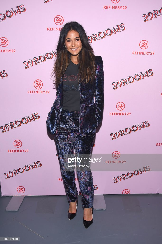 Emmanuelle Chriqui attends Refinery29 29Rooms Los Angeles: Turn It Into Art at ROW DTLA on December 6, 2017 in Los Angeles, California.