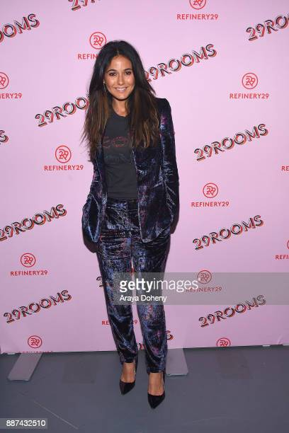 Emmanuelle Chriqui attends Refinery29 29Rooms Los Angeles Turn It Into Art at ROW DTLA on December 6 2017 in Los Angeles California