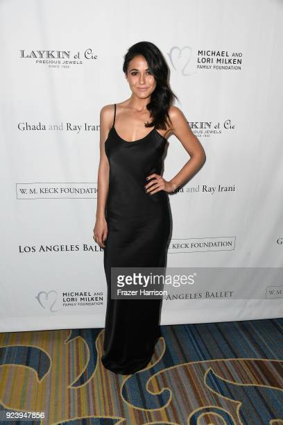 Emmanuelle Chriqui attends the 12th Annual Los Angeles Ballet Gala at the Beverly Wilshire Four Seasons Hotel on February 24 2018 in Beverly Hills...