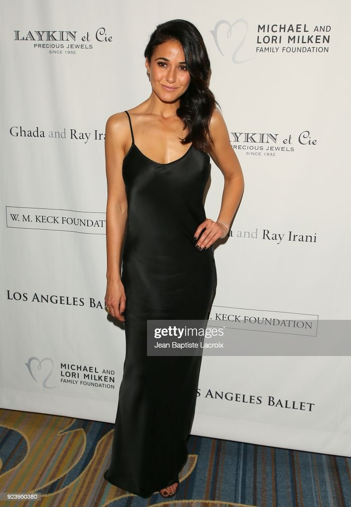 Emmanuelle Chriqui attends the 12th Annual Los Angeles Ballet Gala on February 24, 2018 in Beverly Hills, California.