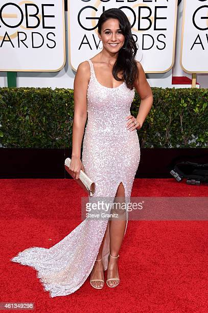 Emmanuelle Chriqui attends the 72nd Annual Golden Globe Awards at The Beverly Hilton Hotel on January 11 2015 in Beverly Hills California