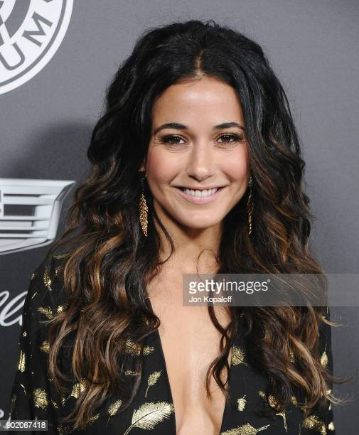 Emmanuelle Chriqui attends The Art Of Elysium's 11th Annual Celebration Heaven at Barker Hangar on January 6 2018 in Santa Monica California