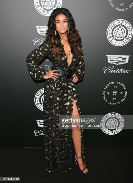 Emmanuelle Chriqui attends the Art of Elysium's 11th annual Heaven Gala in Santa Monica California on January 6 2018 / AFP PHOTO / JeanBaptiste...