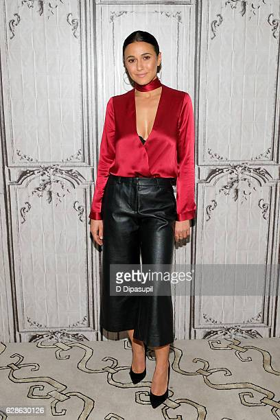 Emmanuelle Chriqui attends the Build Series to discuss 'Shut Eye' at AOL HQ on December 8 2016 in New York City