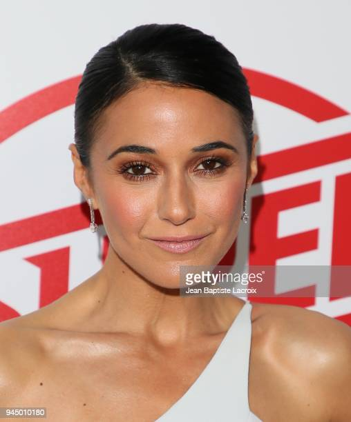 Emmanuelle Chriqui attends the premiere of Fox Searchlight Pictures' 'Super Troopers 2' on April 11 2018 in Los Angeles California