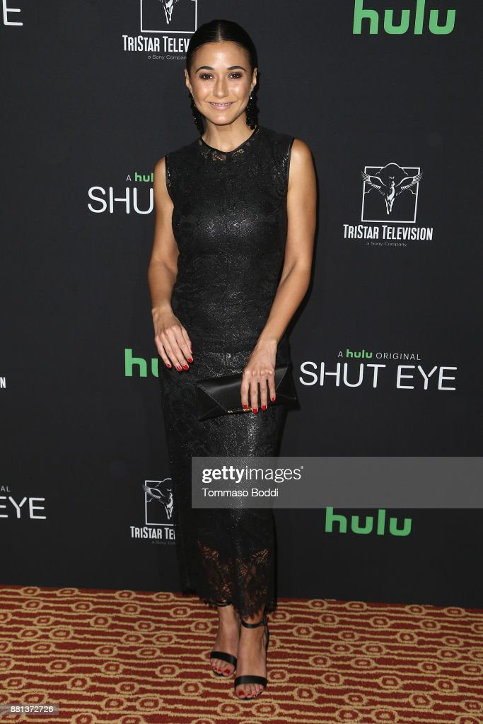 Emmanuelle Chriqui attends the premiere of Hulu's 'Shut Eye' Season 2 at The Magic Castle on November 28, 2017 in Los Angeles, California.