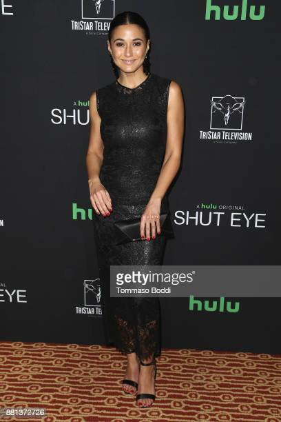 Emmanuelle Chriqui attends the premiere of Hulu's 'Shut Eye' Season 2 at The Magic Castle on November 28 2017 in Los Angeles California