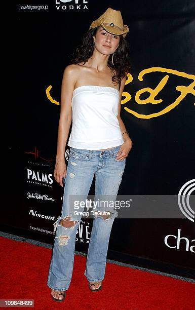Emmanuelle Chriqui during Christian Audigier Fashion Show Featuring New Ed Hardy Label Arrivals at 1707 North Vine St in Hollywood California United...
