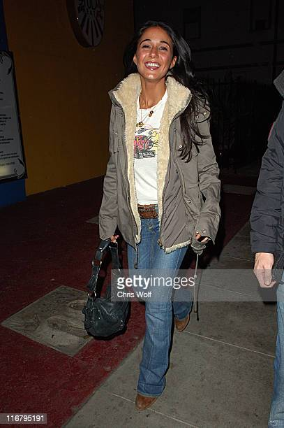 Emmanuelle Chriqui during Emmanuelle Chriqui Sighting at Winston's Club January 20 2007 at Winston's Club in Hollywood California United States
