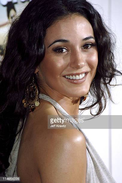 Emmanuelle Chriqui during Entourage Season Two Los Angeles Premiere Arrivals at El Capitan Theater in Hollywood California United States