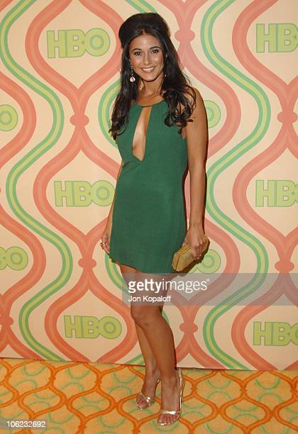 Emmanuelle Chriqui during HBO Golden Globes After Party Arrivals at Beverly Hilton Hotel in Beverly Hills California United States