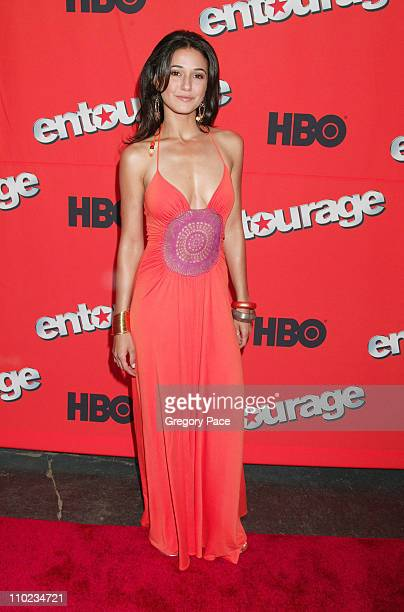 Emmanuelle Chriqui during HBO's 'Entourage' Season 2 New York City Premiere at The Tent at Lincoln Center Damrosch Park in New York City New York...