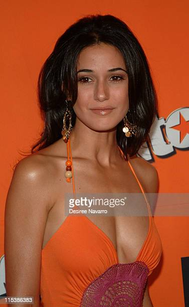 Emmanuelle Chriqui during HBO's 'Entourage' Season 2 New York City Premiere Arrivals at The Tent at Lincoln Center in New York City New York United...