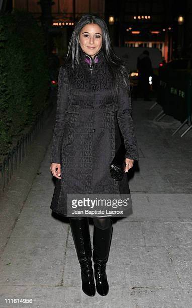Emmanuelle Chriqui during MercedesBenz 2007 Fall Fashion Week Seen Around Bryant Park Day 6 at Bryant Park in New York City New York United States