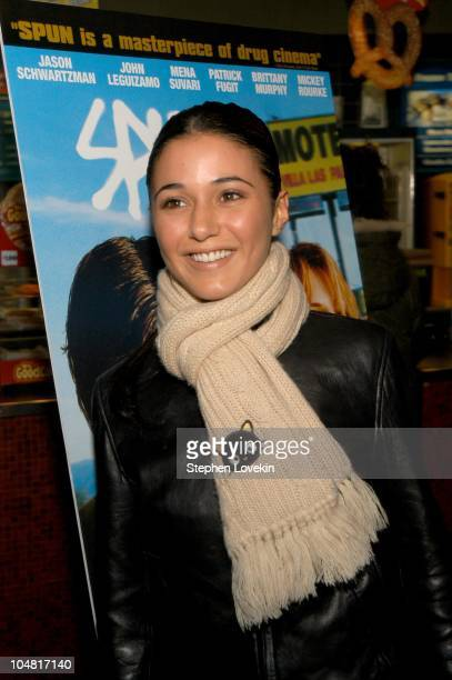 Emmanuelle Chriqui during New York Premiere of the film Spun at Clearview Chelsea West Cinema in New York New York United States
