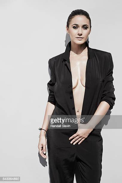 Emmanuelle Chriqui is photographed for Ocean Drive Magazine on January 31 2015 in Los Angeles California