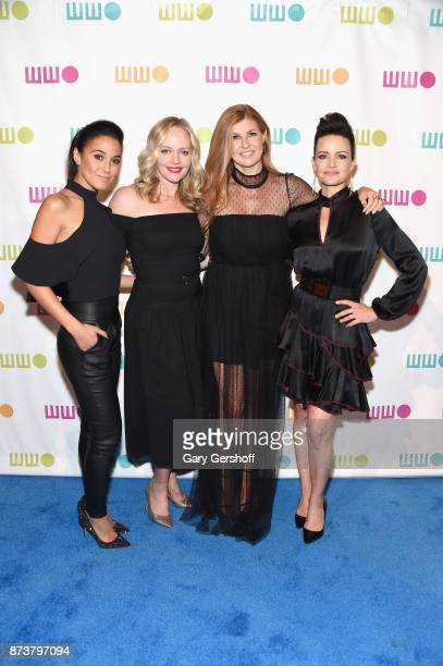 Emmanuelle Chriqui Marley Shelton Connie Britton and Carla Gugino attend the 13th Annual Worldwide Orphans gala at Cipriani Wall Street on November...