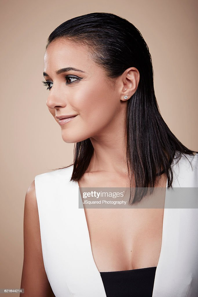 Emmanuelle Chriqui poses for a portraits at the Environmental Media Association 26th Annual EMA Awards Presented By Toyota, Lexus and Calvert Investments for on October 22, 2016 in Burbank, California.
