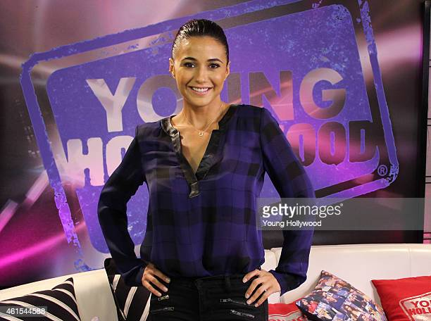 Emmanuelle Chriqui visits the Young Hollywood Studio on January 14 2015 in Los Angeles California